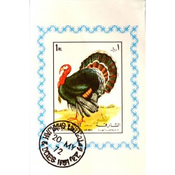 مینی شیت پرندگان - با مهر CTO - پست هوائی - شارجه 1972