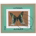 مینی شیت پروانه ها - با مهر CTO - پست هوائی - عجمان 1970