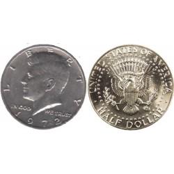 سکه نیم دلاری - نیکل مس - آمریکا 1972 غیربانکی
