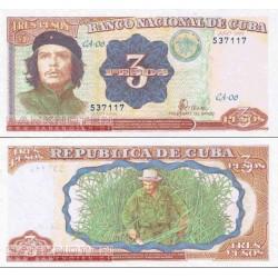 اسکناس 3 پزو - جه گوارا - کوبا 1995