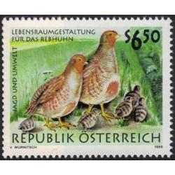 1 عدد تمبر پرندگان - شکار و محیط - اتریش 1999