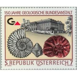 1 عدد تمبر 150 سالگرد تاسیس انستیتو زمین شناسی فدرال - اتریش 1999