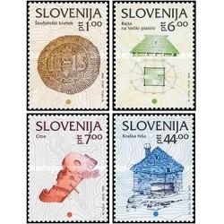 4 عدد تمبر سری پستی اسلوونی ، مینیاتور اروپا  - اسلوونی 1993