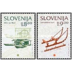 2 عدد تمبر سری پستی اسلوونی ، مینیاتور اروپا  - اسلوونی 1993
