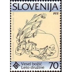 1 عدد تمبر سال بین المللی خانواده - اسلوونی 1994