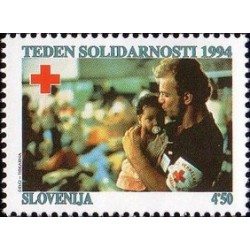 1 عدد تمبر صلیب سرخ - هفته همبستگی  - اسلوونی 1994