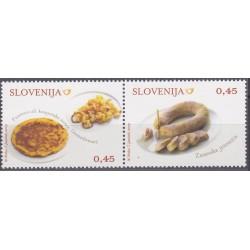 2 عدد تمبر غذاهای سنتی - منتطقه زاساوج - اسلوونی 2009 ارزش روی تمبر 0.9 یورو