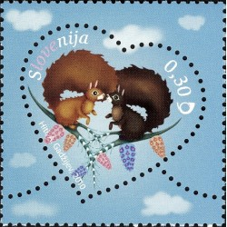 1 عدد تمبر ولنتاین  - اسلوونی 2010