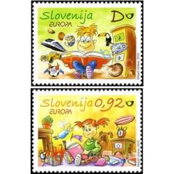 2 عدد تمبرمشترک اروپا - Europa Cept - کتابهای کودکان - کارتونی  - اسلوونی 2010