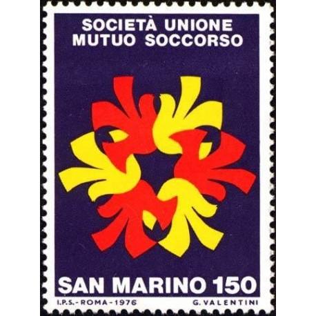 1 عدد تمبر صد سالگی انجمن تعاونی SUMS  - اتحادیه انجمن کمکهای متقابل- سان مارینو 1976