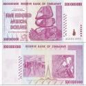اسکناس پانصد میلیون دلاری - 500.000.000 دلاری - زیمباوه 2008