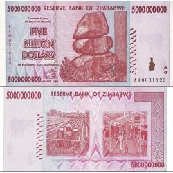 اسکناس پنج میلیارد دلاری - 5.000.000.000 دلاری - زیمباوه 2008