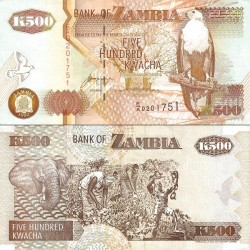 اسکناس 500 کواچا - زامبیا 1992