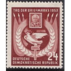 1 عدد تمبر روز تمبر - جمهوری دموکراتیک آلمان 1952 با شارنیه - قیمت 3.3 دلار