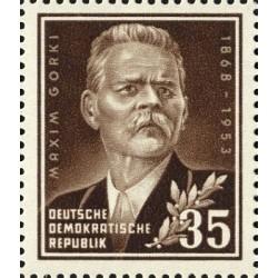 1 عدد تمبر 85مین سالگرد تولد ماکسیم گئورکی  - نویسنده روس- جمهوری دموکراتیک آلمان 1953 بدون چسب