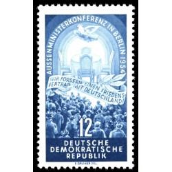 1 عدد تمبر کنفرانس چهار قدرت - برلین - جمهوری دموکراتیک آلمان 1954  قیمت 2.7 دلار