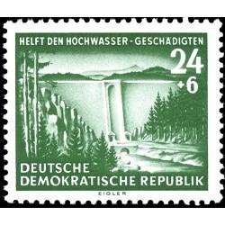 1 عدد تمبر کمک به قربانیان سیل - جمهوری دموکراتیک آلمان 1954
