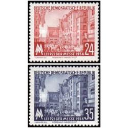 2 عدد تمبر نمایشگاه پائیزه لایپزیک  - جمهوری دموکراتیک آلمان 1954