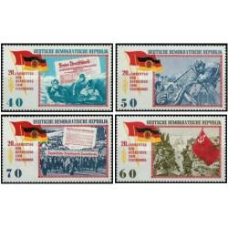4 عدد تمبر بیستمین سالگرد آزادی - جمهوری دموکراتیک آلمان 1965 قیمت 4.2 دلار