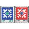 2 عدد تمبر کنگره صلح جهانی - جمهوری دموکراتیک آلمان 1965