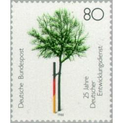 1 عدد تمبر 25مین سالگرد رشد جمهوری فدرال آلمان 1988