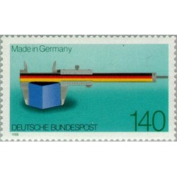 "1 عدد تمبر صدمین سالگرد عنوان "" Made in Germany"" - جمهوری فدرال آلمان 1988"