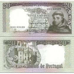 اسکناس 20 اسکودو - پرتغال 1964