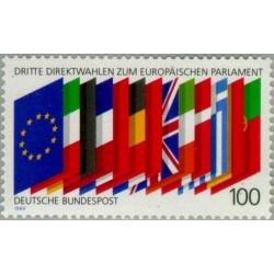 1 عدد تمبر انتخابات پارلمان اروپا - جمهوری فدرال آلمان 1989