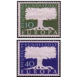 2 عدد تمبر مشترک اروپا - Europa Cept - برجسته - جمهوری فدرال آلمان 1957 قیمت 5.6 دلار