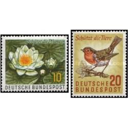 2 عدد تمبر حفاظت از طبیعت - جمهوری فدرال آلمان 1957