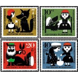 4 عدد تمبر خیریه - Red Ridinghood - جمهوری فدرال آلمان 1960 قیمت 4.3 دلار