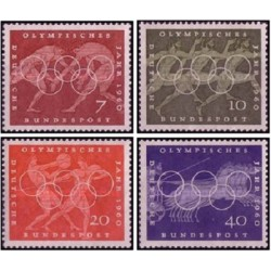 4 عدد تمبر بازیهای المپیک رم - جمهوری فدرال آلمان 1960