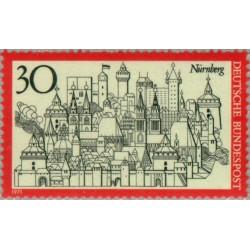 1 عدد تمبر شهر نورنبرگ - جمهوری فدرال آلمان 1971