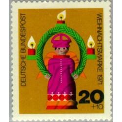 1 عدد تمبر کریستمس - جمهوری فدرال آلمان 1971