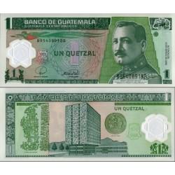 اسکناس پلیمر 1 کواتزل - گواتمالا 2008 تاریخ    12.03.2008
