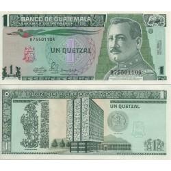 اسکناس 1 کوتزال - گواتمالا 1990 تاریخ 03.01.1990