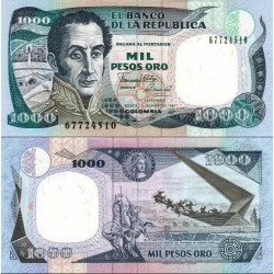 اسکناس 1000 پزو - کلمبیا 1990 تاریخ 01.01.1990