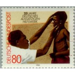 1 عدد تمبر 25مین سال مبارزه علیه جذام - جمهوری فدرال آلمان 1982