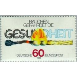 1 عدد تمبر کمپین مبارزه با دخانیات - جمهوری فدرال آلمان 1984