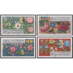 4 عدد تمبر خیریه - گلها - جمهوری فدرال آلمان 1985 قیمت 4.6 دلار