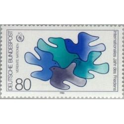 1 عدد تمبر سال بین المللی صلح - جمهوری فدرال آلمان 1986