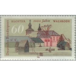 1 عدد تمبر هزارمین سالگرد کلیسای جامع والسرود - جمهوری فدرال آلمان 1986