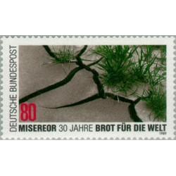 """1 عدد تمبر 30مین سالگرد رسالت کلیسا """" به جهان غذا بدهید"""" - جمهوری فدرال آلمان 1989"""