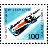 1 عدد تمبر مسابقات جهانی سورتمه سواری - جمهوری فدرال آلمان 1991 تمبر شیت