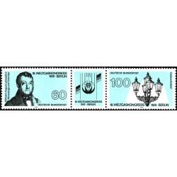 2 عدد تمبر کنگره بین المللی انرژی - برلین - با تب - جمهوری فدرال آلمان 1991
