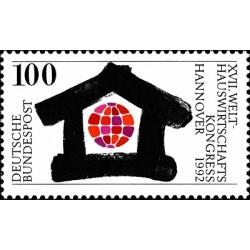 1 عدد تمبر کنگره بین المللی خانه داری - جمهوری فدرال آلمان 1992