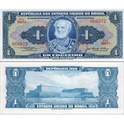 اسکناس 1 کروزرو - برزیل 1954 سری 1001-3690