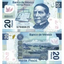 اسکناس پلیمر 20 پزو - مکزیک 2007 سری E  امضا مطابق عکس توضیحات