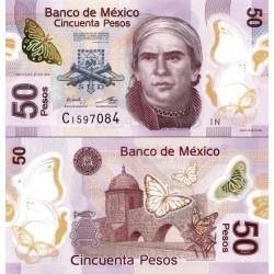 اسکناس پلیمر 50 پزو - مکزیک 2014 سفارشی - توضیحات را ببینید