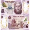 اسکناس پلیمر 50 پزو - مکزیک 2014 سری N